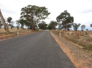 The road to Coolamon in South West New South Wales.  This picture was taken from Lenton Park, the property owned by my grandfather, James Victor McCormack